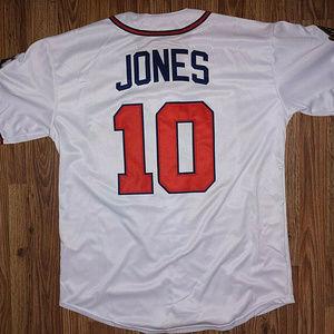 Mitchell & Ness Chipper Jones Braves Jersey L Sewn